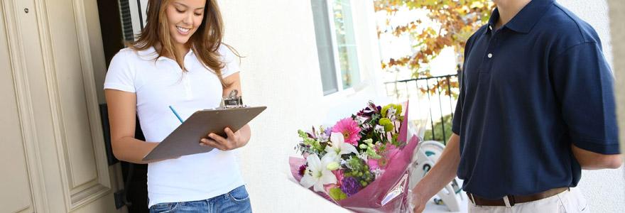 livrer un bouquet de fleurs aux maries